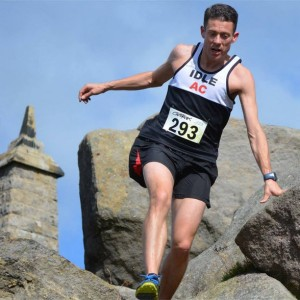 Picture of me starting the decent from the moor above Cowling village